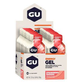 GU Energy Gel Box 24x32g, Strawberry Banana
